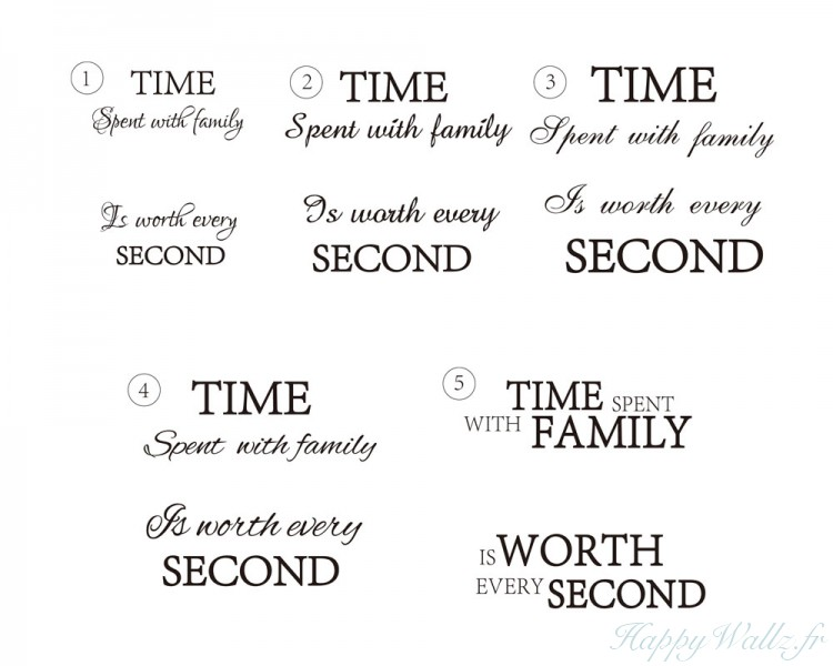 time spent family quotes wall stickers