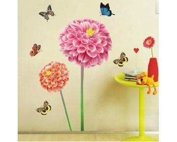 Autocollants muraux de tournesols et de papillons