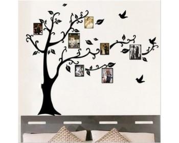 cadres photo décalcomanies murales arbre de famille
