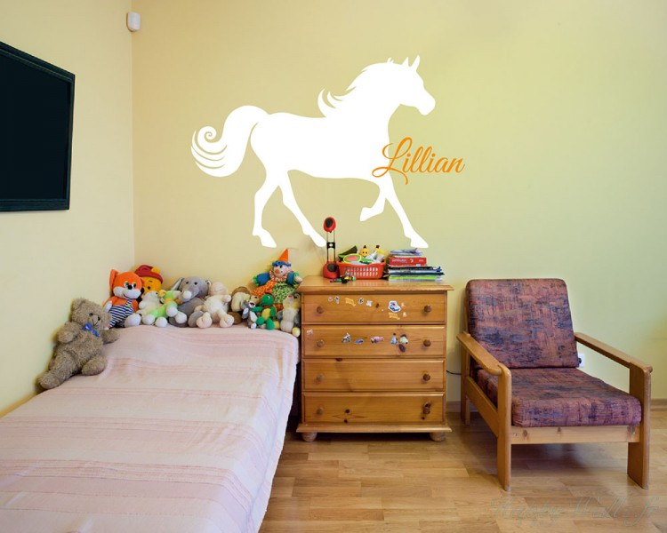 horse wall decals with custom name