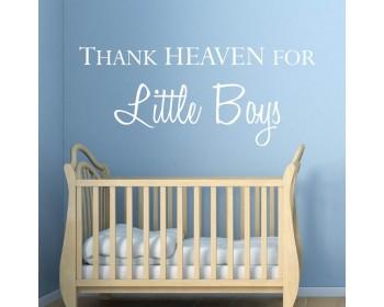 Remerciez le ciel pour les petits garçons de pépinière et chambre d'enfant des citations