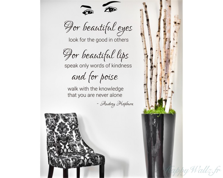 Audrey Hepburns Beautiful Eyes Quotes Wall Decals
