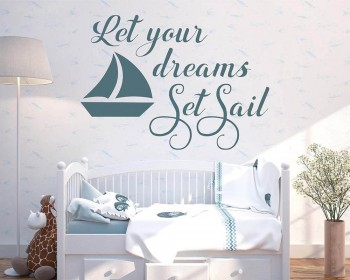 Let Your Dreams Set Voilier nautique Sticker Voilier