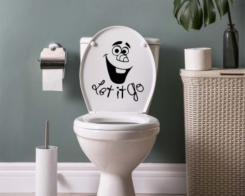 Let it Go - Stickers muraux salle de bain