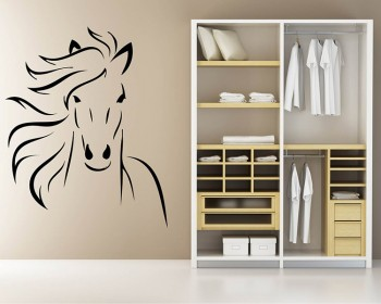 Stickers muraux animal cheval