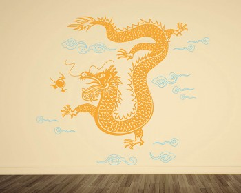Stickers muraux dragon style chinois