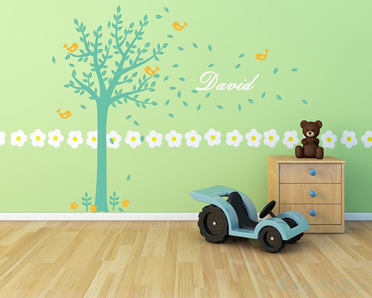 Tree Wall Decal With Customised Name