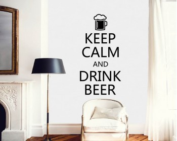 Stickers muraux  Keep Calm and Drink Beer