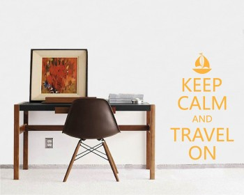 Stickers muraux citation Keep Calm and Travel On