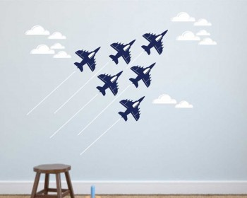 Stickers nursery avion