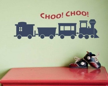 Stickers muraux petits trains
