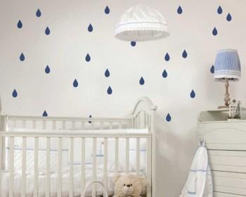 Stickers muraux motif goutte de pluie