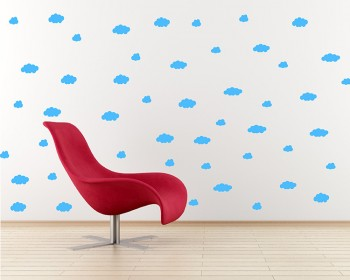 Stickers muraux nuages