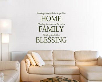 Stickers muraux citation Home Family Blessing