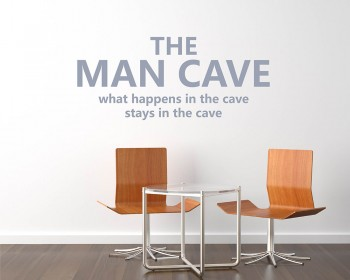 Stickers muraux citation The Man Cave
