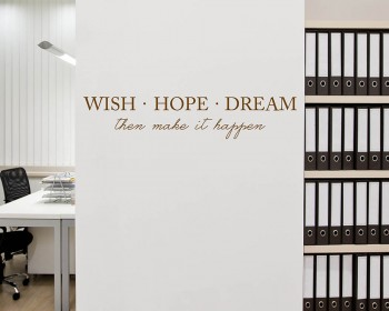 Stickers muraux citation Wish Hope Dream