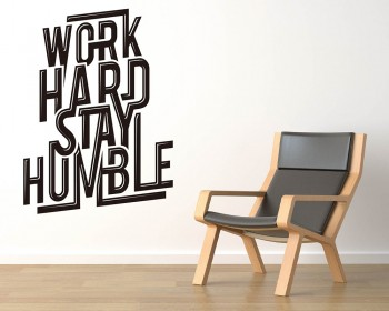 Stickers muraux citation  Work Hard Stay Humble