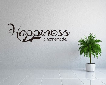 Stickers muraux citation  Happiness is Homemade
