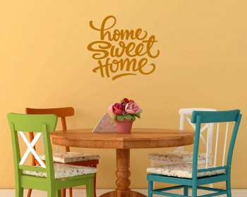 Stickers muraux citation Home Sweet Home