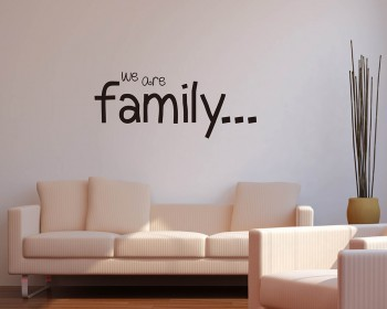 Stickers muraux citation we are family