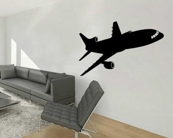 Stickers muraux avion silhouette