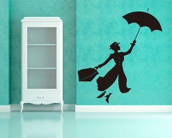 Stickers muraux Mary Poppins  Silhouette