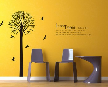 Stickers muraux arbre et citation