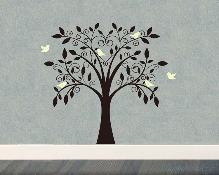 Tree And Birds. Tree And Birds Wall Decal ... Part 45