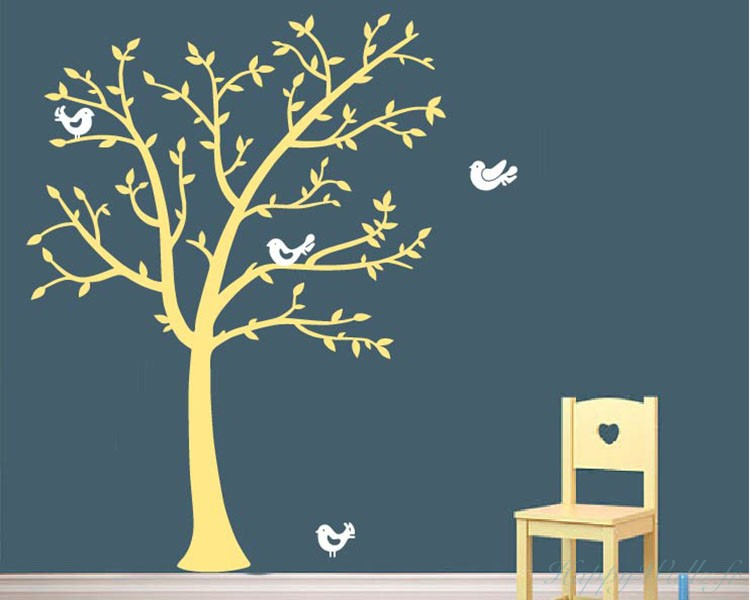 Tree And Lovely Birds Decal Part 43