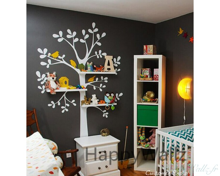 Shelving Tree Wall Decal With Birds And Birdcage Part 70