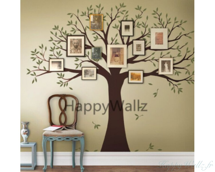 Large Family Tree   You Can Place Photos Around The Tree · Large Family  Tree Wall Decals ...