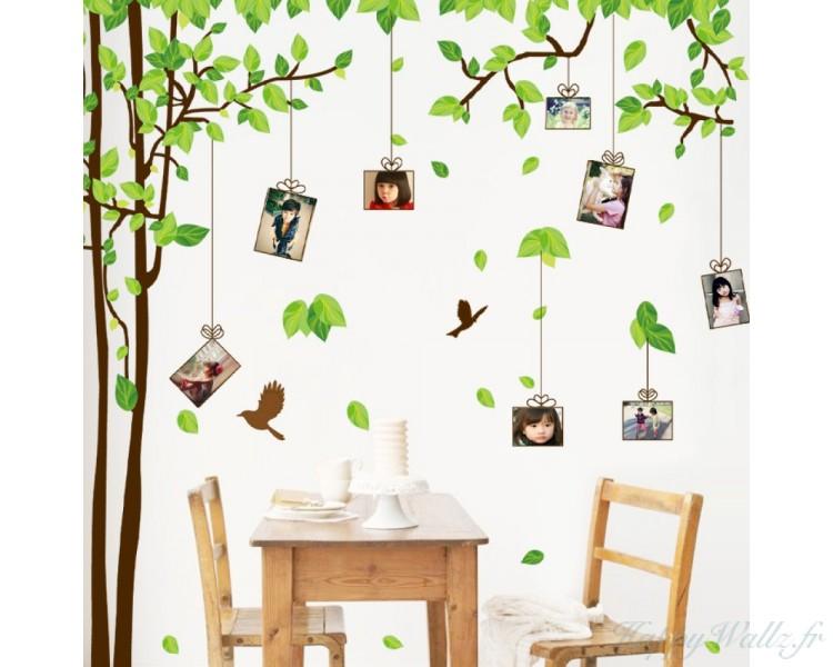 cadres photo d calcomanies murales arbre de famille. Black Bedroom Furniture Sets. Home Design Ideas