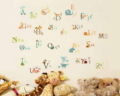 Stickers muraux alphabet