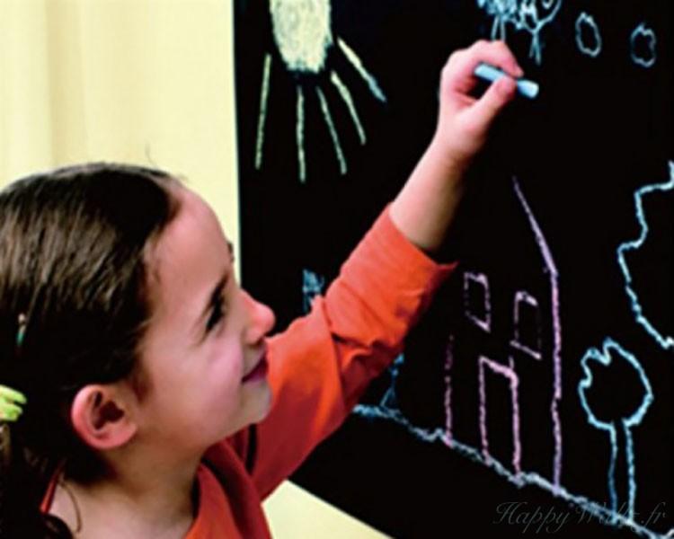 Stickers muraux tableau noir pour les enfants for Tableau noir pour enfant
