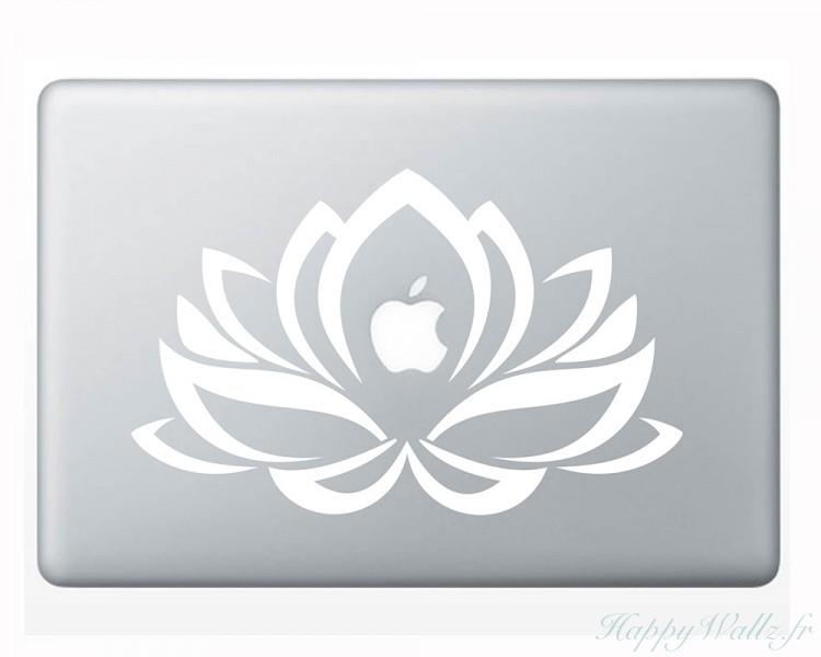 sticker mural lotus pour votre ordinateur portable votre chambre. Black Bedroom Furniture Sets. Home Design Ideas