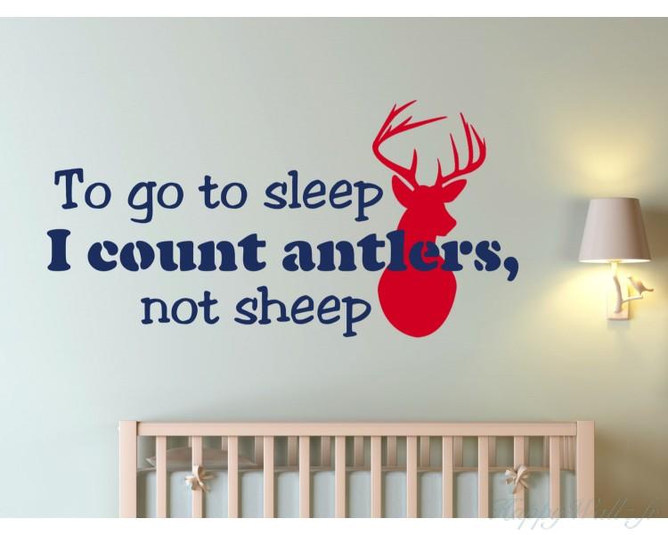antlers cite pour aller dormir je compte que les bois ne dorment pas. Black Bedroom Furniture Sets. Home Design Ideas