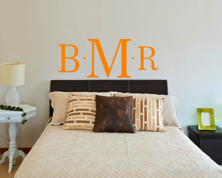 stickers muraux intial lettre du nom personnalis. Black Bedroom Furniture Sets. Home Design Ideas