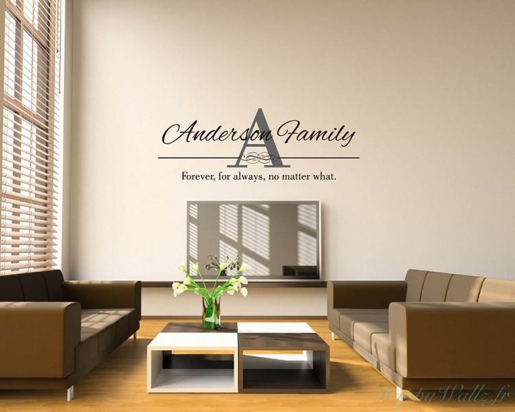 stickers muraux nom personnalis de la famille. Black Bedroom Furniture Sets. Home Design Ideas