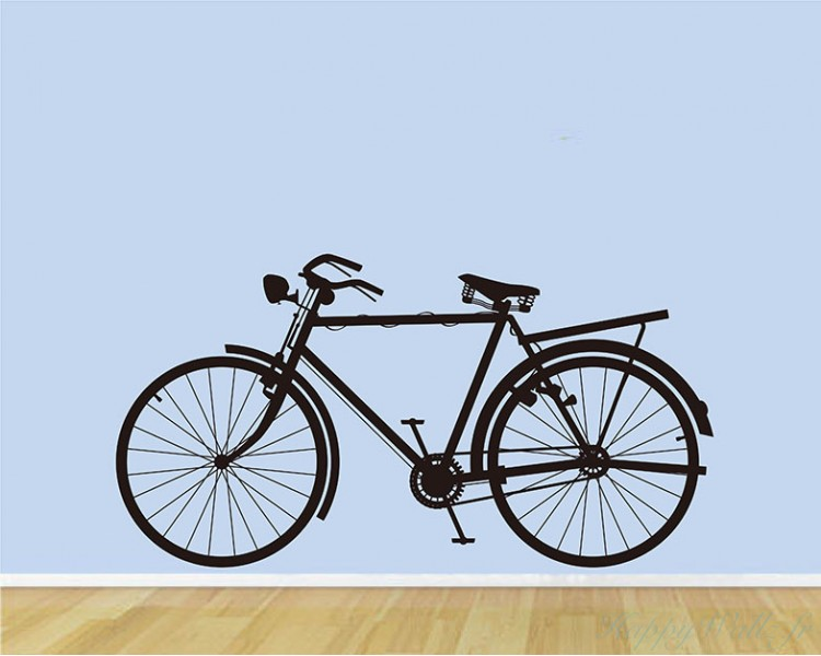 stickers muraux bicyclette. Black Bedroom Furniture Sets. Home Design Ideas