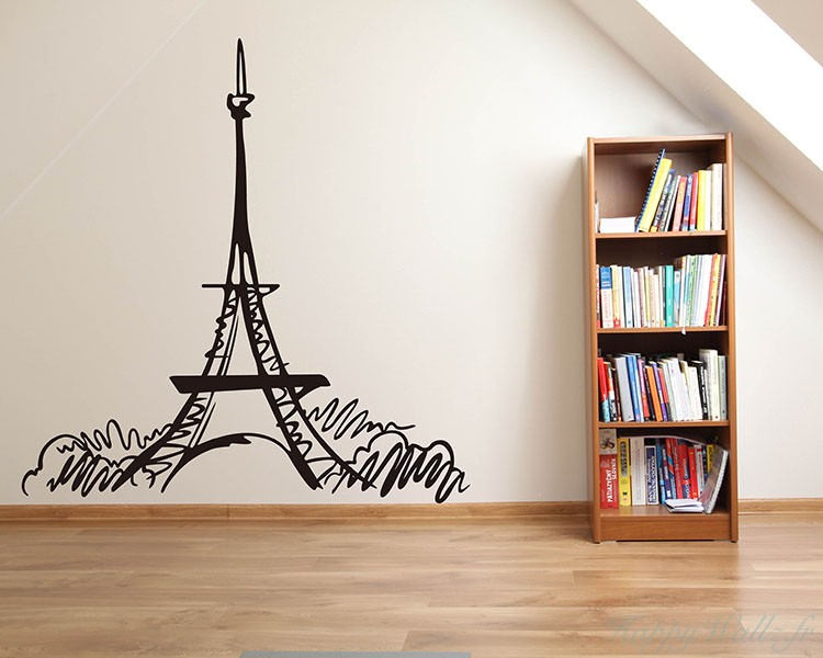 Stickers muraux tour eiffel for Stickers tour eiffel chambre